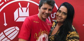 Sérgio Lobato e Regina Celi. Foto: Divulgação