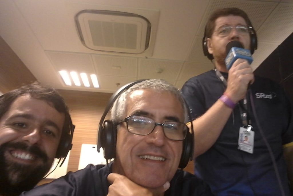 Felipe Santos, Antonio Carlos Duarte e Evaldo José. Foto: Arquivo Pessoal