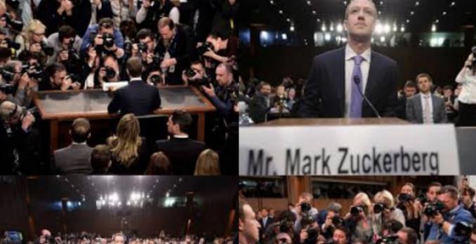 Depoimento de Mark Zuckerberg, dono do Facebook, ao Senado dos Estados Unidos. Foto: Reprodução