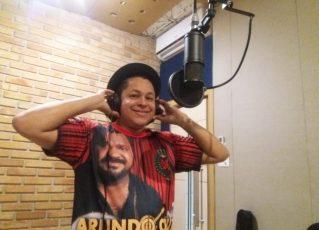 Darlan Alves grava samba da X-9 para 2019. Foto: Kawê Vigna
