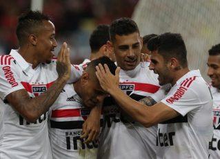 São Paulo derrota o Flamengo no Maracanã. Foto: Twitter oficial do São Paulo