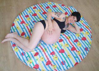 Laura durante o período de gravidez. Foto: Reprodução/Instagram