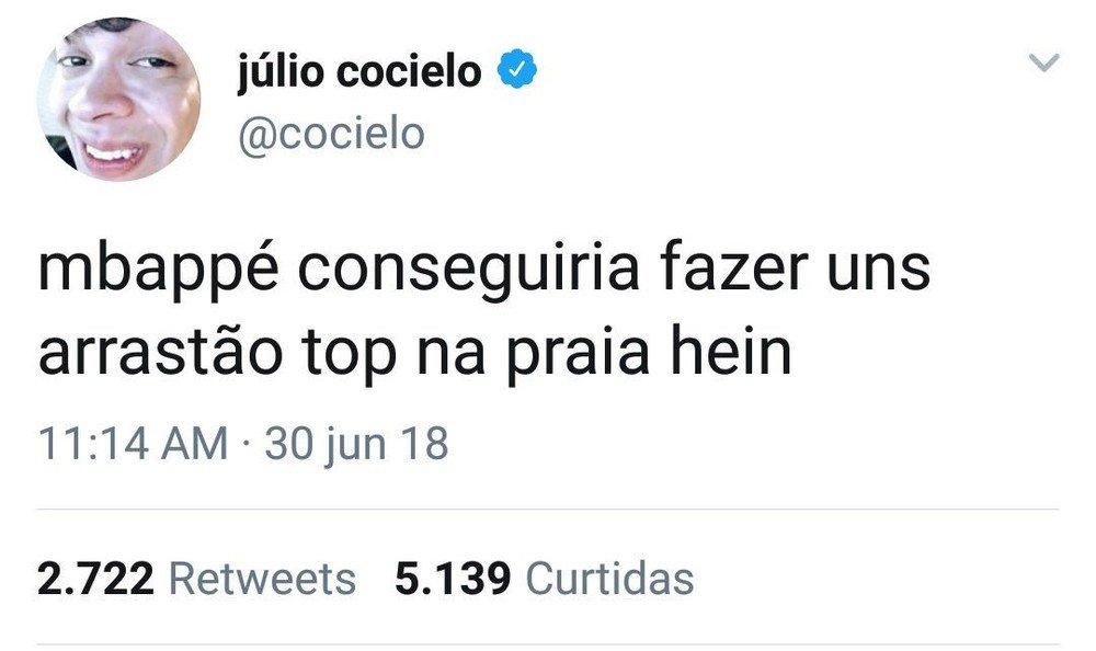Comentário polêmico de Júlio Cocielo. Foto: Captura de Tela
