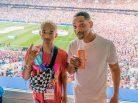 Jaden Smith e Will Smith na Copa do Mundo da Rússia. Foto: Reprodução