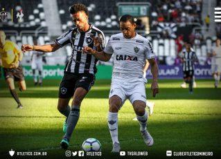 Atlético Mineiro e Botafogo se enfrentaram neste domingo, no Estádio Nilton Santos. Foto: Reprodução/Atlético-MG
