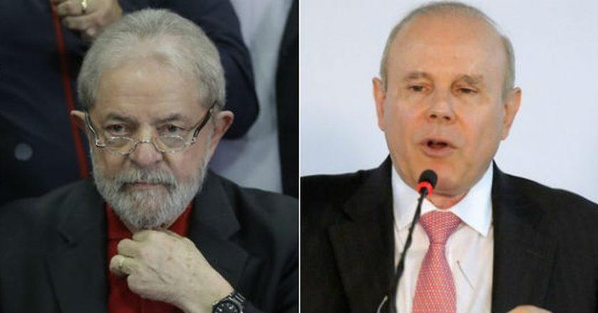 Lula e Mantega. Foto: Reprodução