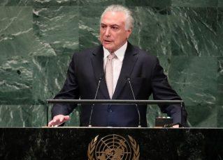 Michel Temer em discurso na ONU. Foto: Reprodução/Agência Brasil
