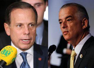 Candidatos ao governo de São Paulo: João Doria e Marcio França. Foto: Agência Brasil