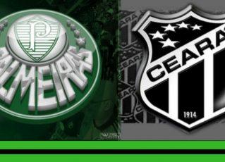 Palmeiras e Ceará. Foto: Divulgação