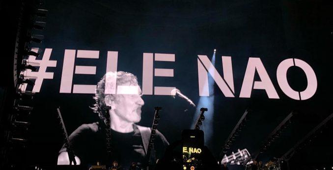 Roger Waters destaca cenário político brasileiro em show em São Paulo. Foto: Reprodução/Instagram