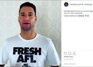 Thiago Neves pede desculpas para torcedores. Foto: Reprodução de Internet