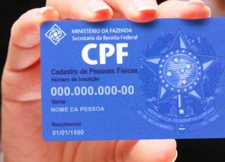 CPF. Foto: Divulgação