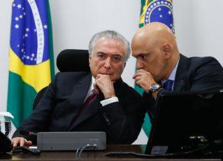Presidente Michel Temer e o ministro da Justiça, Alexandre Moraes. Foto: Beto Barata/PR