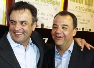 Aécio e Sérgio-Cabral. Foto: Governo do Rio