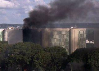 Clima de tensão em Brasília. Foto: Reprodução de TV