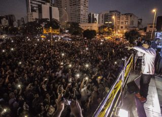 Manifestação no Largo da Batata