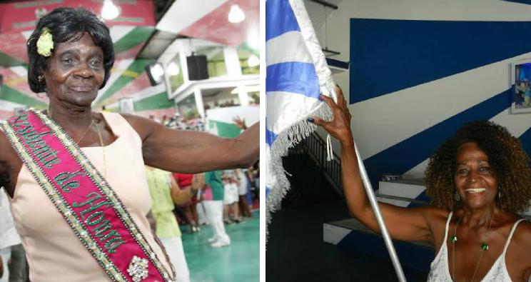Tia Suluca da Mangueira e Irene 15 da Portela. Foto: Divulgação