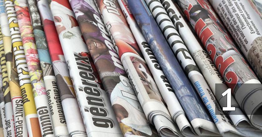 Jornais impressos. Foto: Reprodução