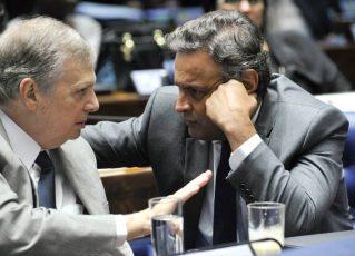 Tasso Jereissati e Aécio Neves. Foto: Geraldo Magela/Agência Senado