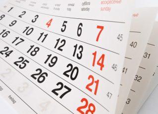 Calendário. Foto: Divulgação