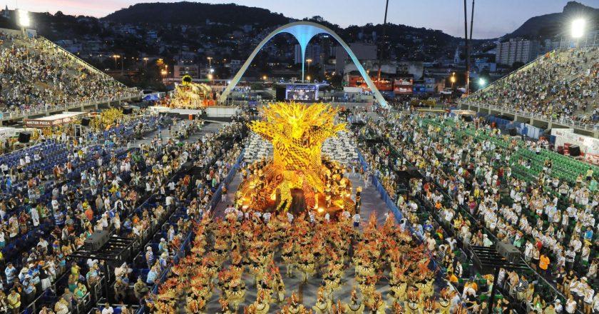 Desfile na Marquês de Sapucaí. Foto: Reprodução.