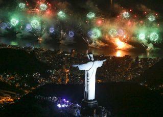 Fotos queima de fogos Copacabana - Réveillon Rio 2018