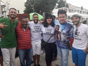 Manifestação contra cancelamento dos ensaios técnicos na Sapucaí. Foto: Vinicius Albudane