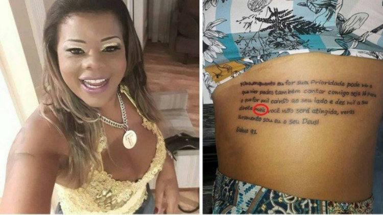 Tati Quebra Barraco faz tatuagem com erro de português na costela. Foto: Reprodução/Instagram.