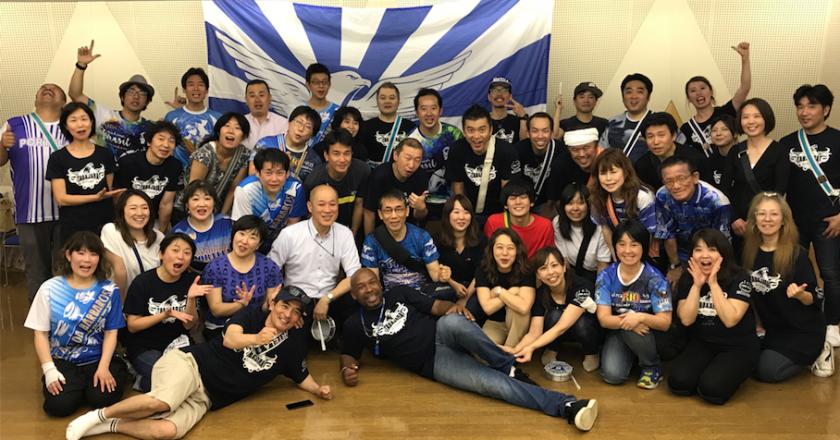 Evento de encerramento da turnê de Nilo Sérgio no Japão. Foto: Consulado da Portela no Japão.