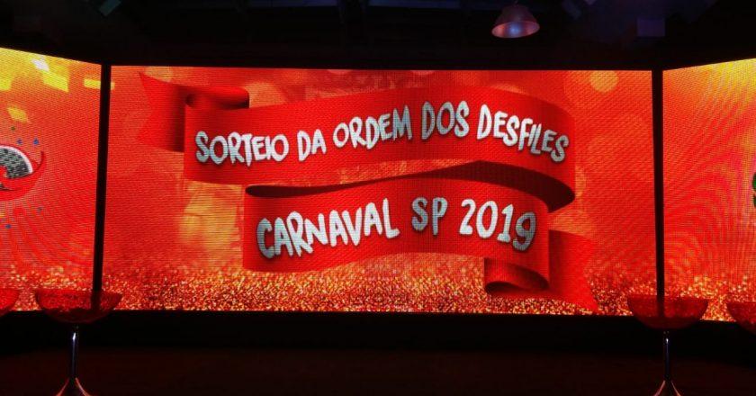 Sorteio da ordem de desfiles do Carnaval de São Paulo 2019. Foto: SRzd - Guilherme Queiroz