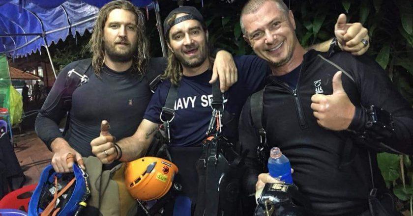 Mergulhador profissional Mikko Paasi compartilhou fotos do resgate na Caverna na Tailândia. Reprodução/Mikko Paasi