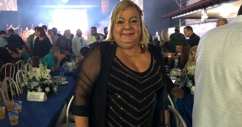 Vera Lúcia, presidente do Império Serrano, no Sorteio da Ordem dos Desfiles do Grupo Especial para o Carnaval 2019. Foto: SRzd/Max Gomes