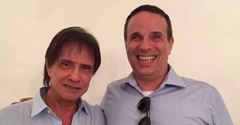 Roberto Carlos e Dudu Braga. Foto: Reprodução Instagram/Dudu Braga