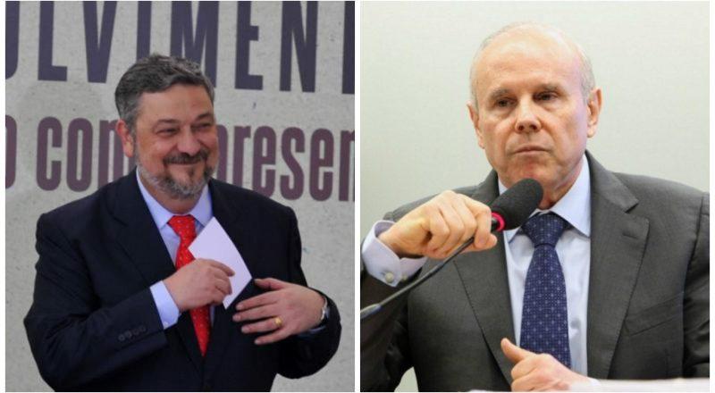 Antônio Palocci e Guido Mantega. Foto: Reprodução