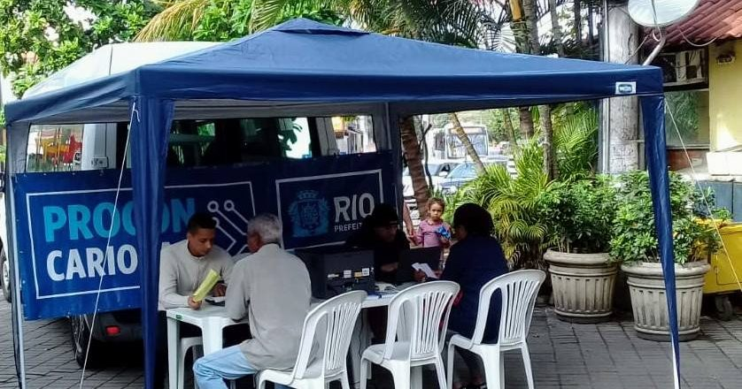 Tenda do Procon Carioca. Foto: Divulgação