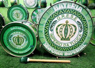 Instrumentos musicais da Império da Tijuca. Foto: Eliane Pinheiro/SRzd