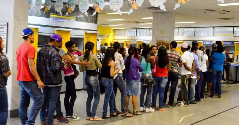 Fila em agência do Banco do Brasil. Foto: Reprodução