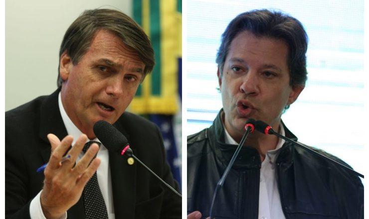 Jair Bolsonaro e Fernando Haddad. Foto: Agência Brasil