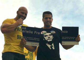 """Apoiadores de Bolsonaro que quebraram placa """"Marielle Franco"""" são candidatos do PSL. Foto: Reprodução de Internet"""
