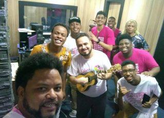 Gravação oficial do samba-enredo da Unidos do Jacarezinho. Foto: Divulgação