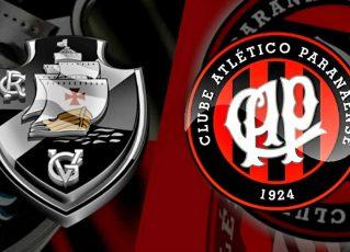Vasco e Atlético-PR. Foto: Divulgação
