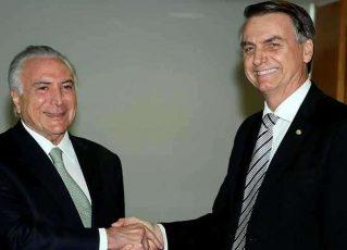 Michel Temer e seu sucessor, Jair Bolsonaro. Foto: Wilson Dias/Agência Brasil