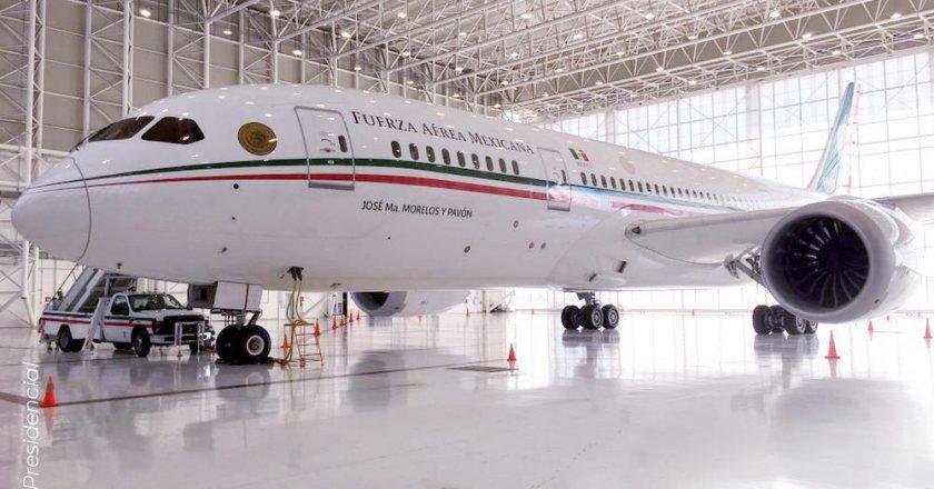 Avião presidencial do México colocado à venda. Foto: Reprodução/Twitter/SHCP