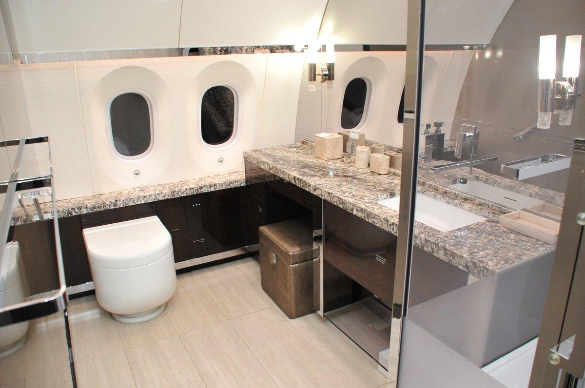 Banheiro de avião presidencial do México colocado à venda. Foto: Reprodução/Twitter/SHCP