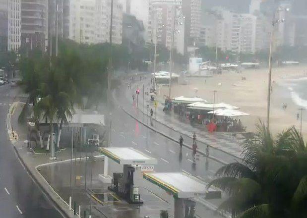 Rio de Janeiro é atingido por fortes chuvas. Foto: Reprodução/Centro de Operações Rio