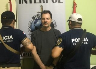 Bruno Farina é detido pela Interpol do Paraguai. Foto: Divulgação/Secretaria Nacional de Inteligência do Paraguai