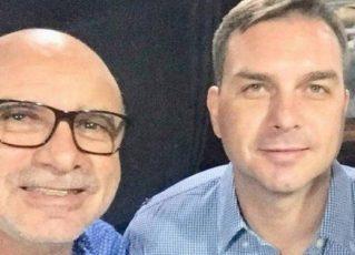 Fabrício Queiroz e Flávio Bolsonaro. Foto: Reprodução de Internet
