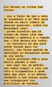 Mensagem publicada por Graziela Gonçalves nos Stories do Instagram. Foto: Reprodução