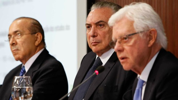 Eliseu Padilha, Michel Temer e Moreira Franco. Foto: Alan Santos/Agência Brasil
