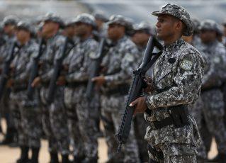 Cerimônia de inauguração da sede do Batalhão Escola de Pronto Emprego (BEPE) da Força Nacional. Foto: Marcelo Camargo/Agência Brasil